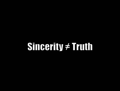 Sincerity and Truth